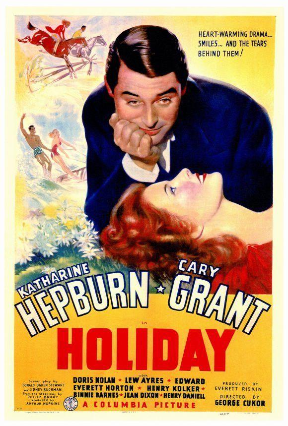 Holiday 27x40 Movie Poster (1938) Cary grant, Katharine