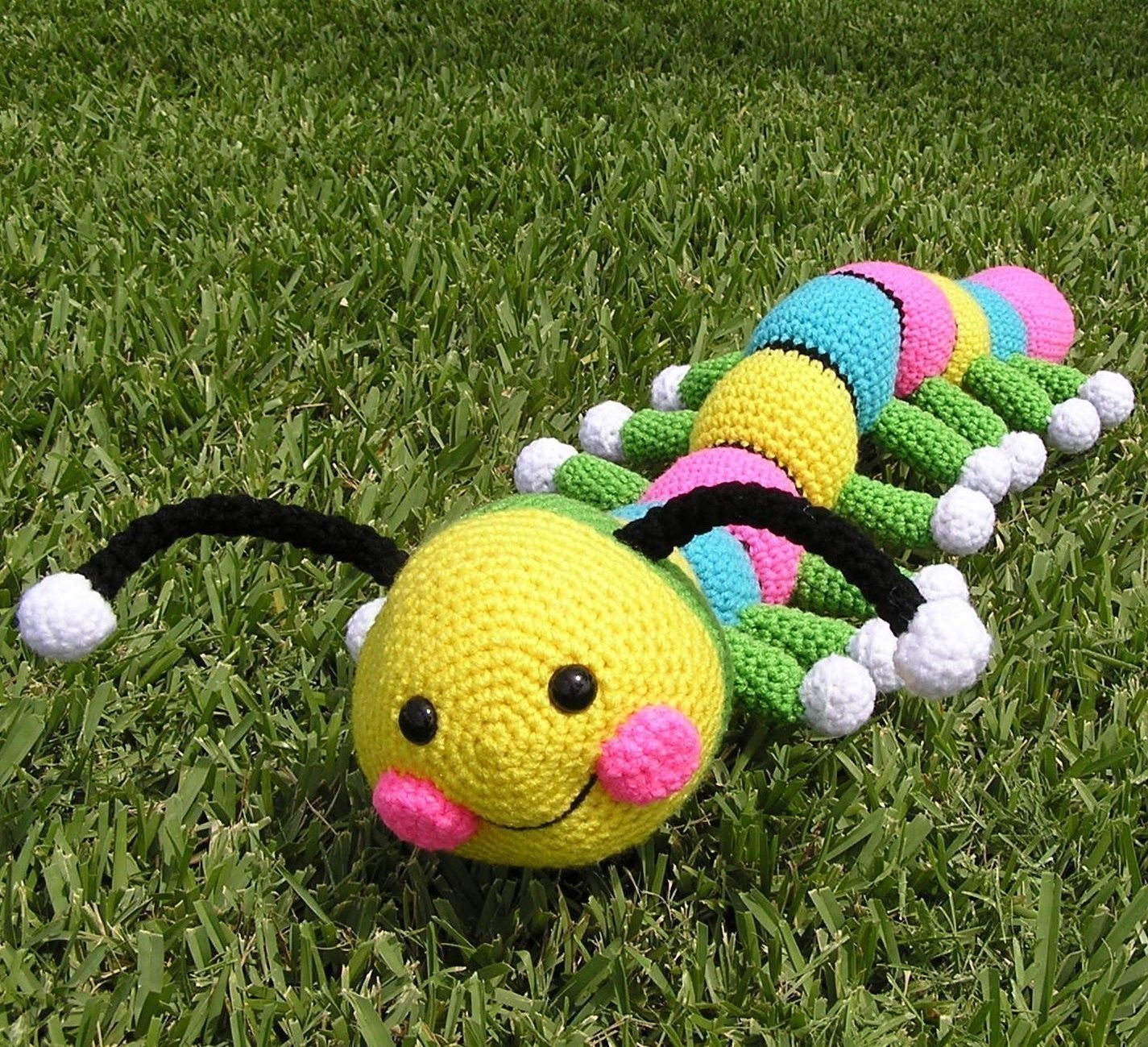 Worm amigurumi crochet pattern - Amigu World | 1299x1425