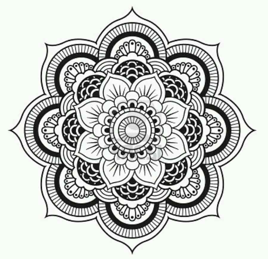 Lotus Flower Mandala Coloring Pages Only Coloring Pages Color