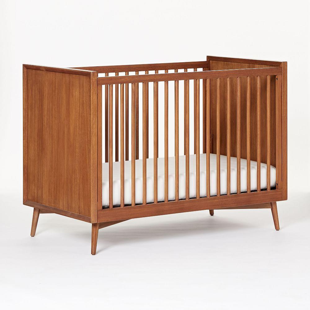 Mid-Century Convertible Crib - Acorn | Mid century nursery ...