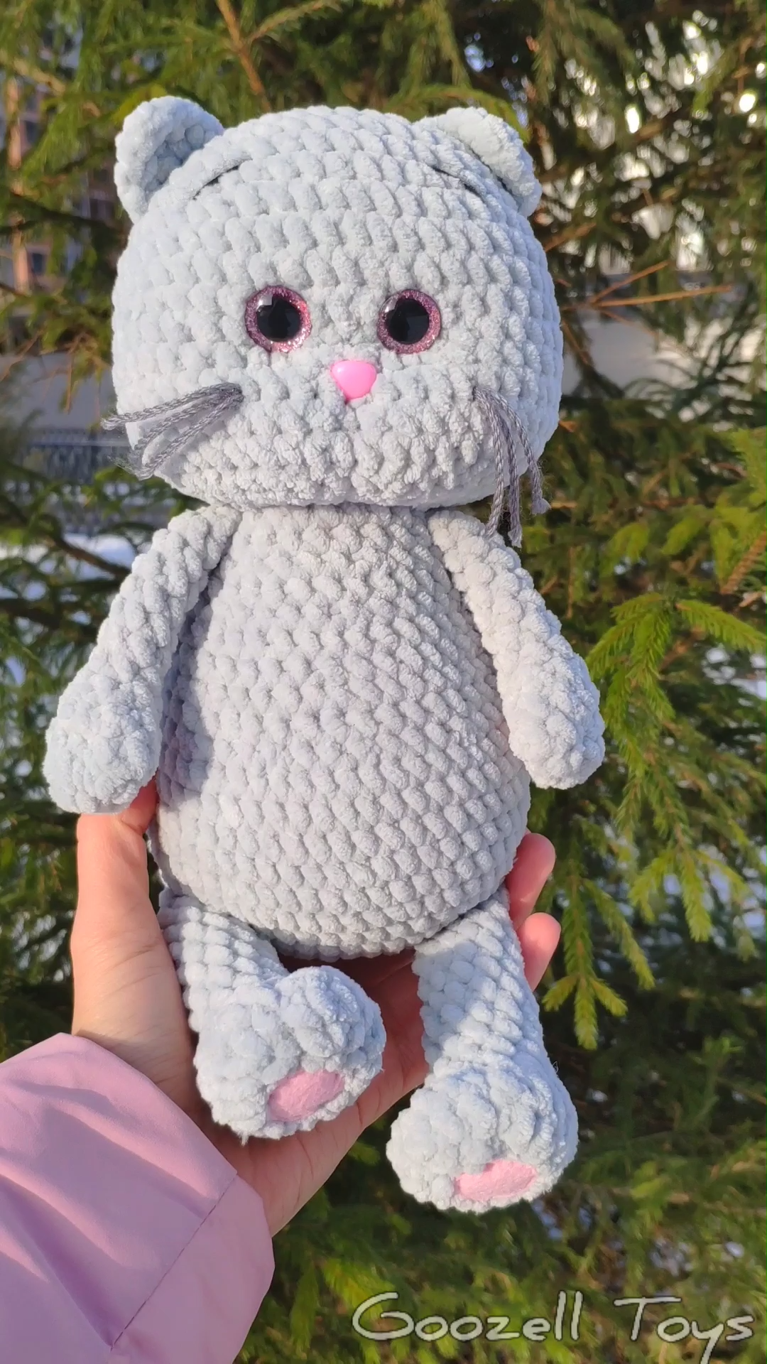 CROCHET CAT PATTERN. Amigurumi pattern Plush Cat. Crochet animal pattern. Knitted toys tutorial
