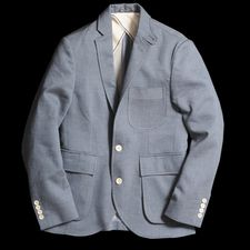 Billy Reid Jonathan Jacket in Blue at Union Made