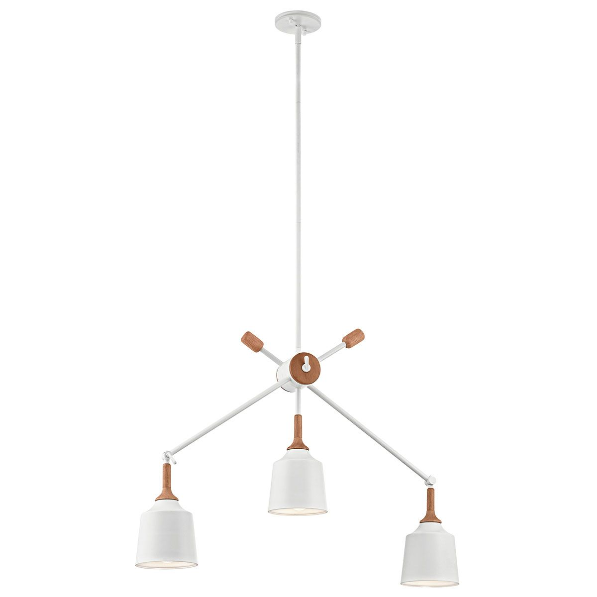 The Danika 3 Light Linear Chandelier Takes Concept Of Mid Century Modern To