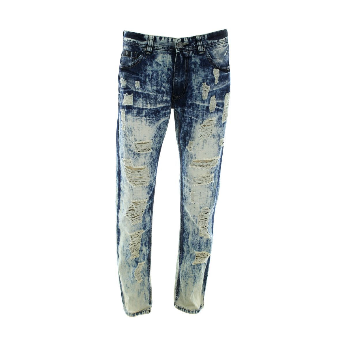 Switch Remarkable - Men's Rip And Repair Washed Jeans - Vintage