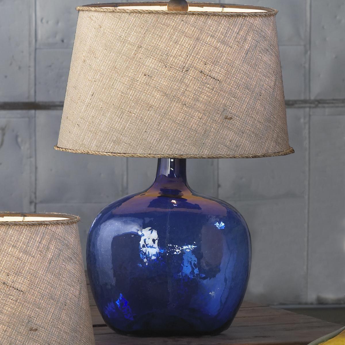 Demijohn Table Lamp. Cobalt BlueNavy ...