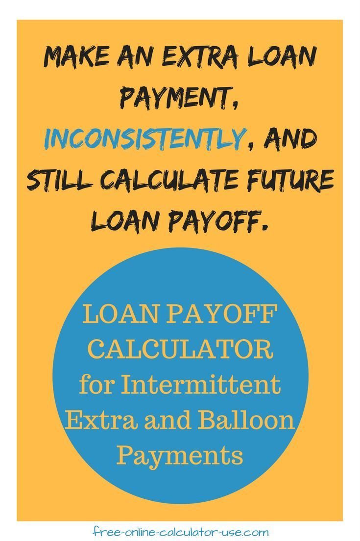 Loan Pay Off Calculator For Irregular Extra And Balloon Payments Amortization Schedule Mortgage Payment Personal Finance Advice Amortization table with balloon payment