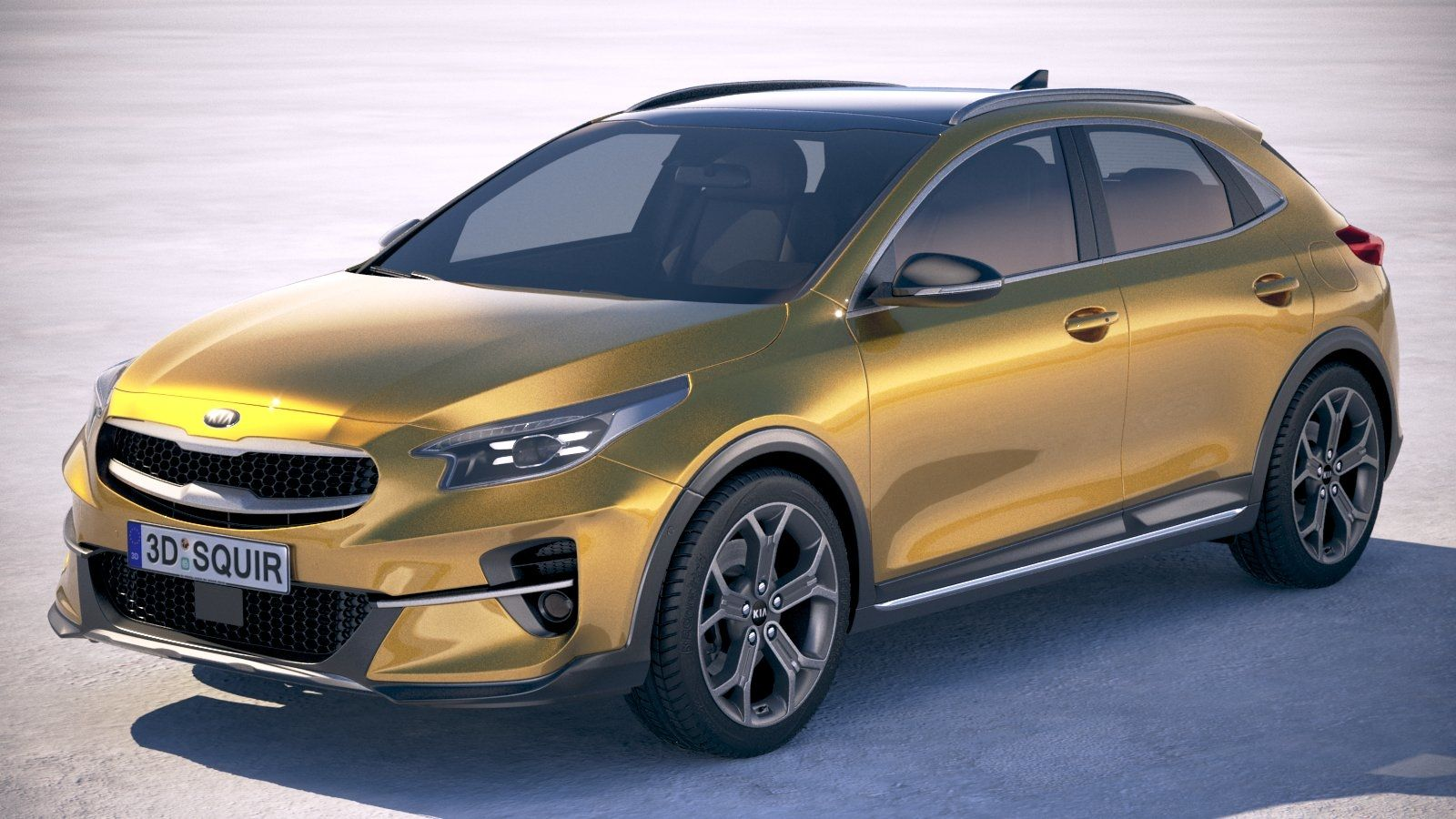NYC. Kia XCeed. First Edition. Quantum Yellow. in 2020