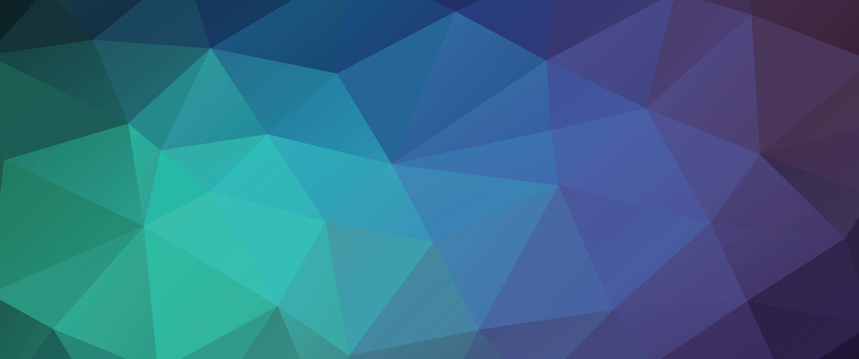 triangles, colorful, green colors, low poly 3440x1440
