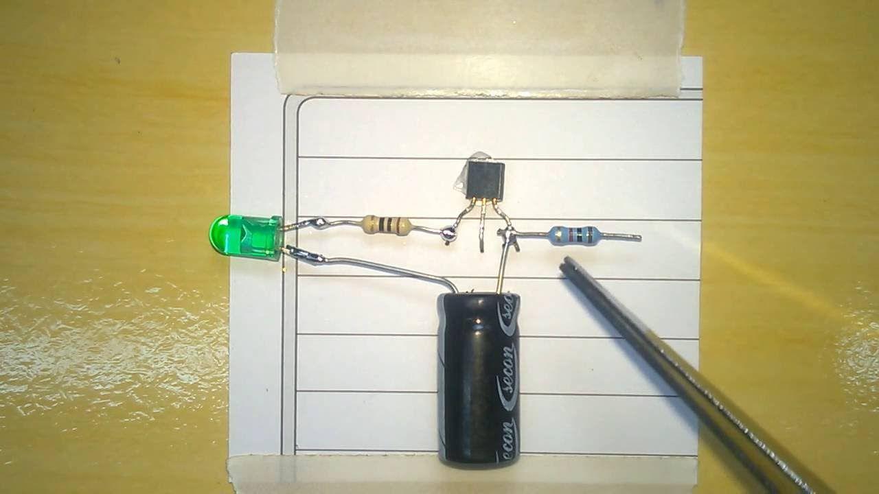 Como Fazer Led Pisca Alarme Carro Falso How To Make Simple Electric Circuit Fl