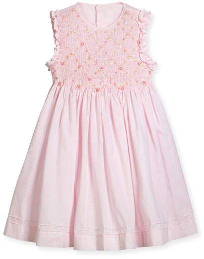 12ce1ad2db7 Luli   Me Sleeveless Smock Embroidered Dress