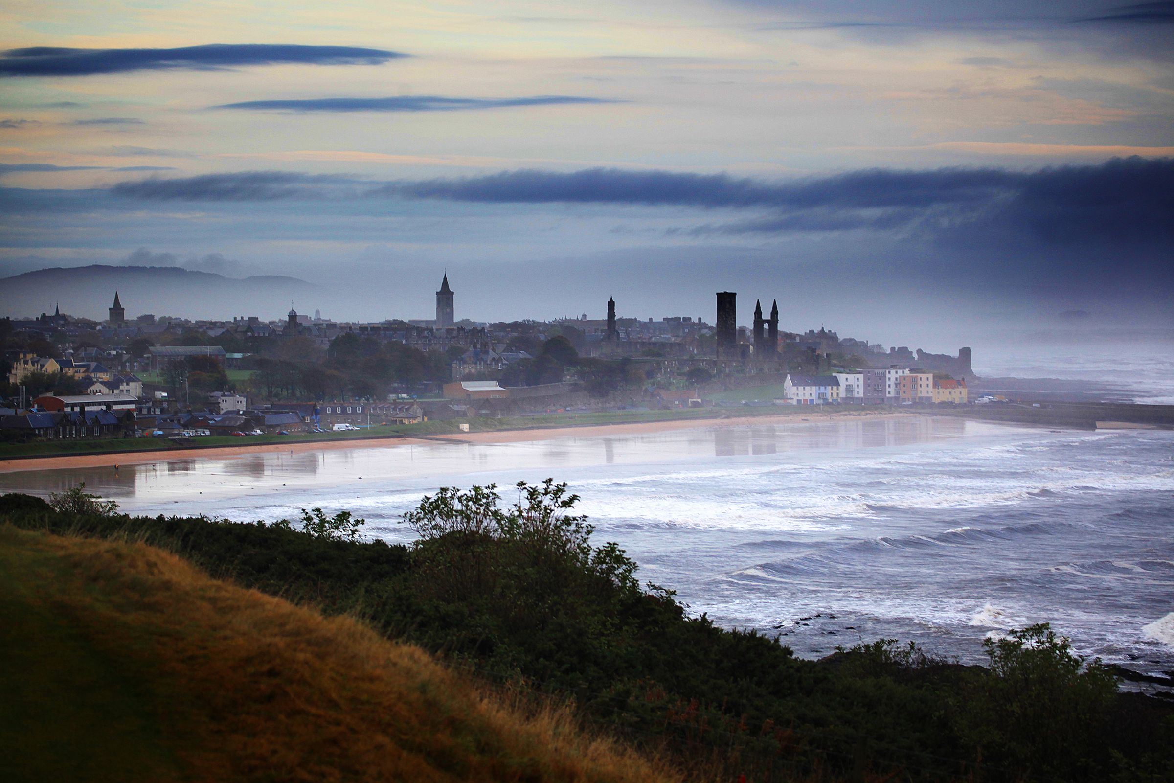 A dramatic shot of the beautiful St Andrews Bay Vacation
