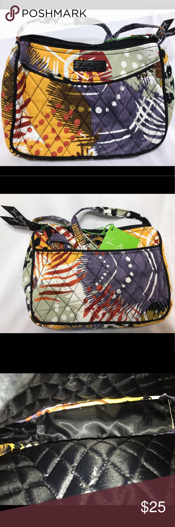 27104d62cdc0 Vera Bradley Painted Feathers Little Crossbody NWT This bag has a slip in  pocket in the back exterior. There are no interior pockets.