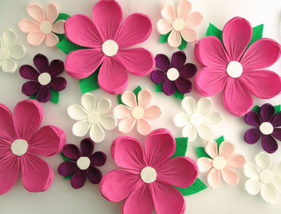 Wall Decoration Paper Flowers : Paper flowers wall arch wedding