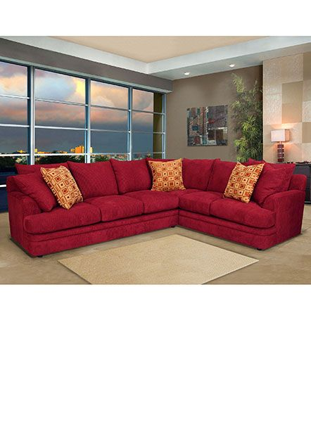 Red sectional sofa fabric | Sunnyside Dr. | Sofa, Red sectional sofa ...