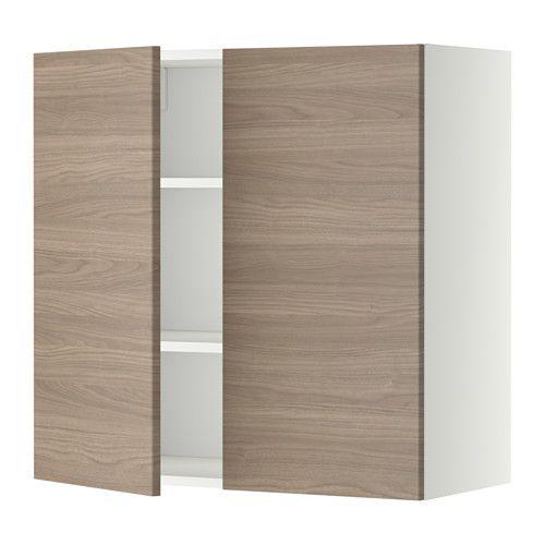 METOD Wandschrank mit Böden und 2 Türen, weiß, Veddinge weiß Catalog - ikea küchen türen