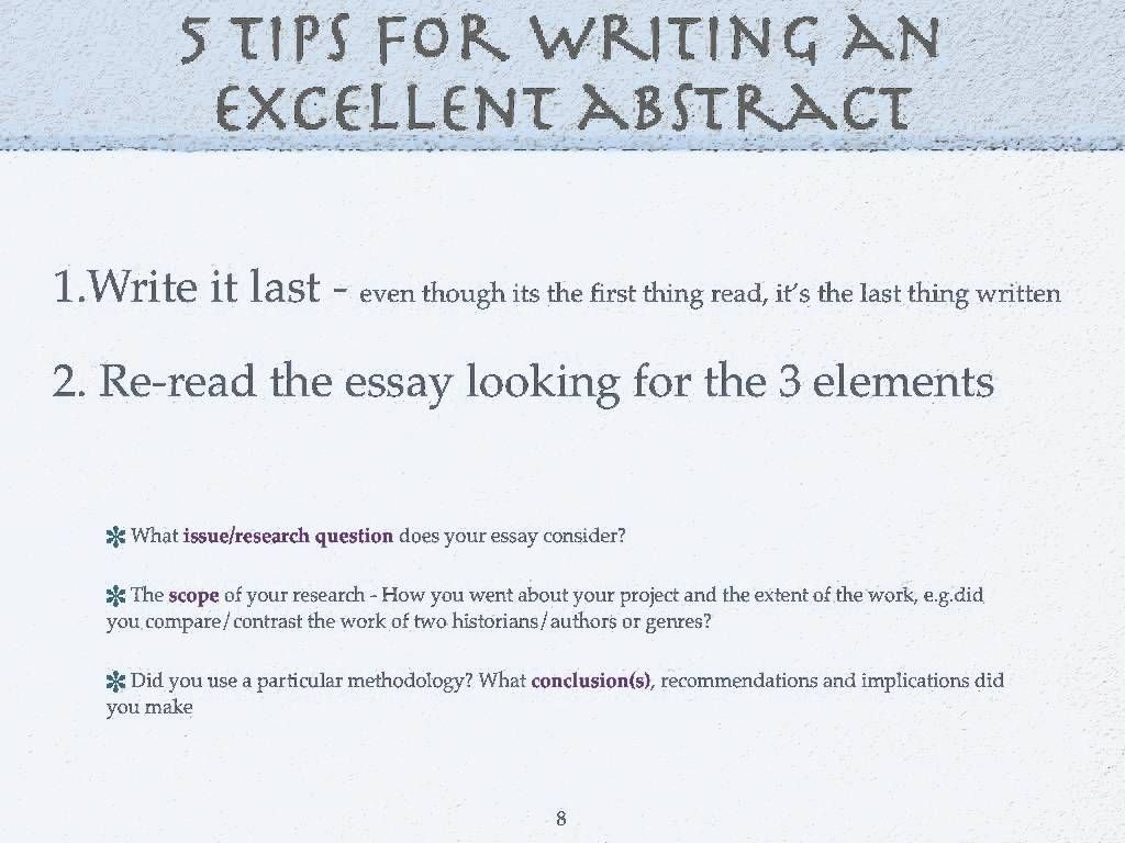 Abstract Dissertation Tips HttpMegagiperCom
