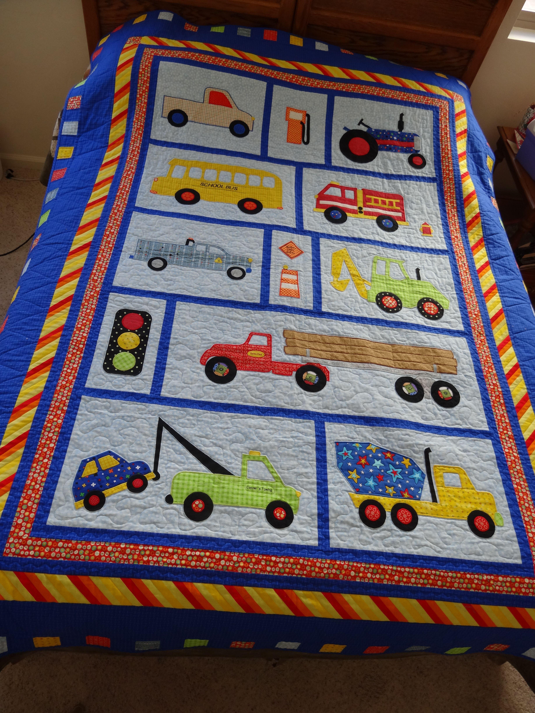 Cooper's Truck Quilt August-December 2013   Toddler quilt ...