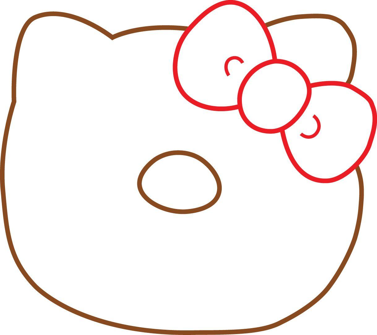 hello kitty donut template 2 | Crafts | Pinterest | Hello kitty ...