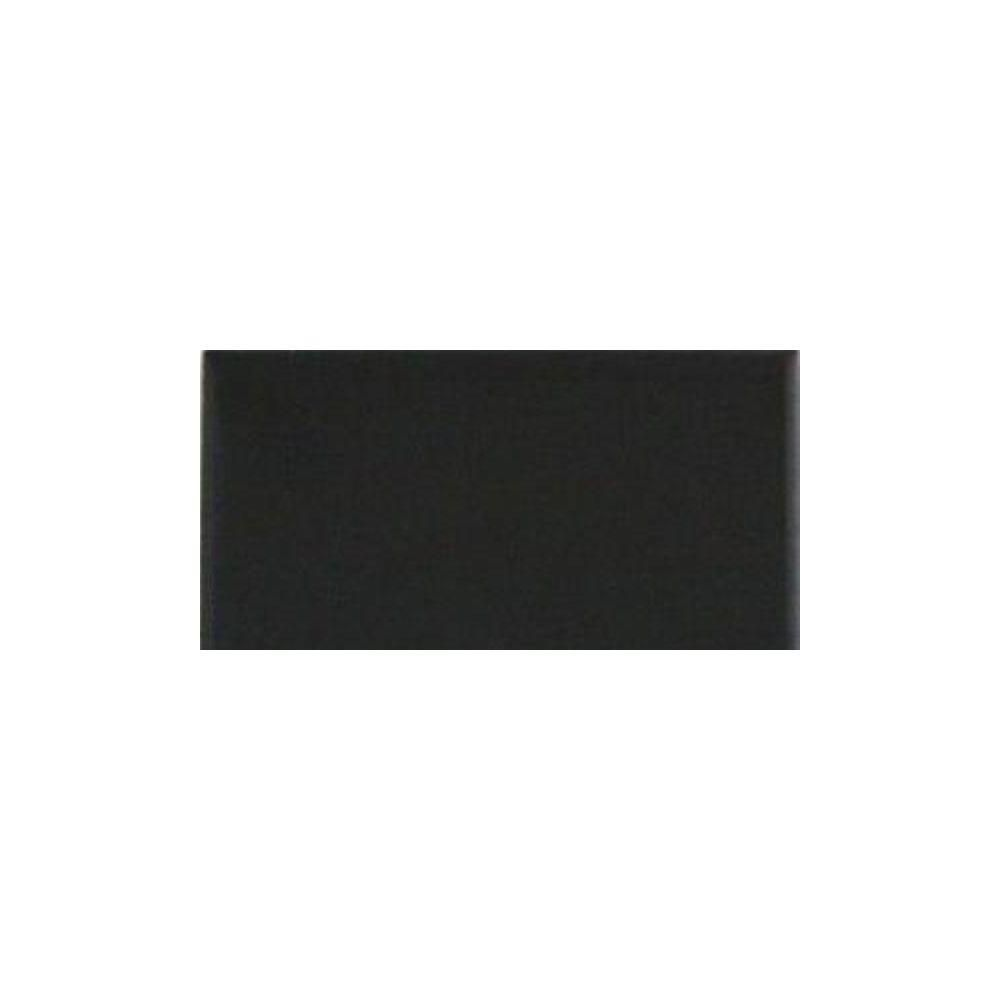 Daltile Semi-Gloss Black 3 in. x 6 in. Ceramic Wall Tile | 1930s ...