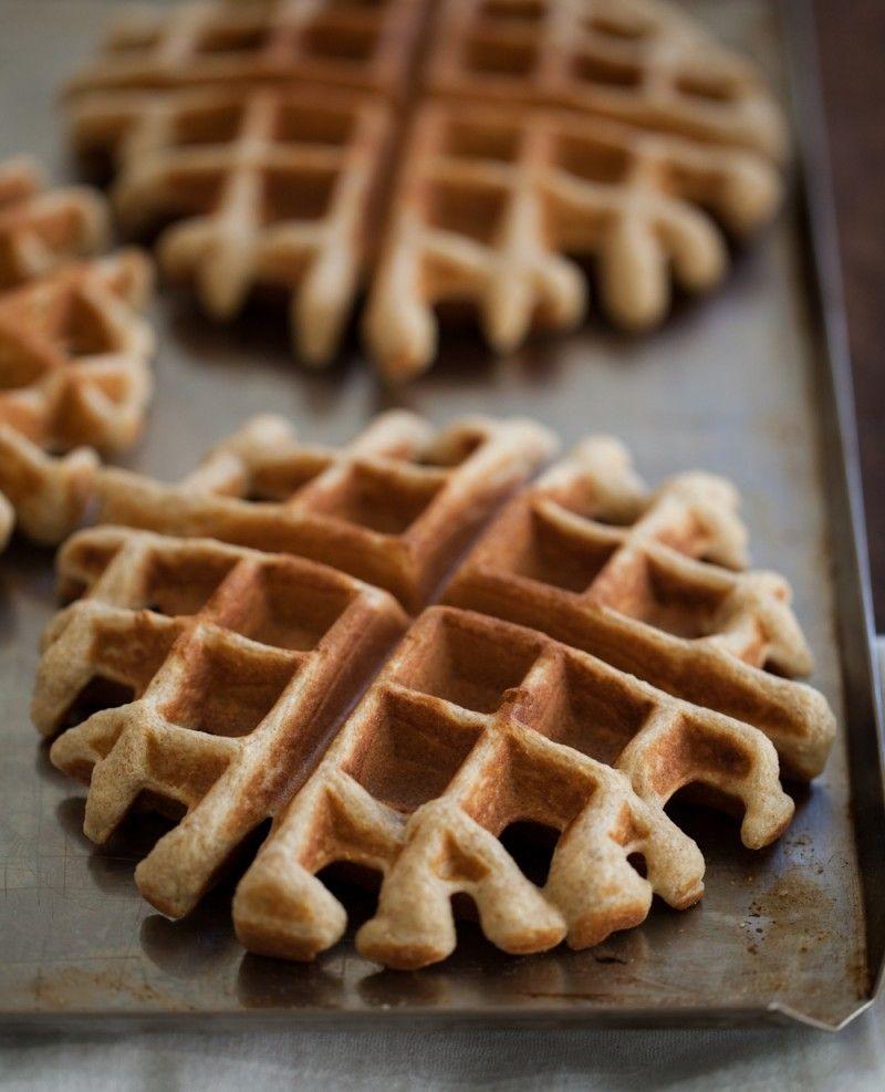 Rye Waffles with Black Raspberry Sauce