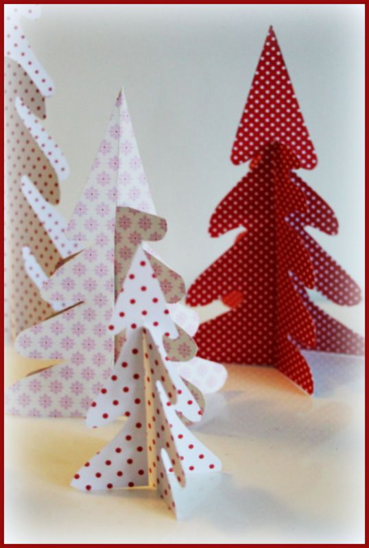 How to make paper christmas trees (in swedish) Natal Pinterest