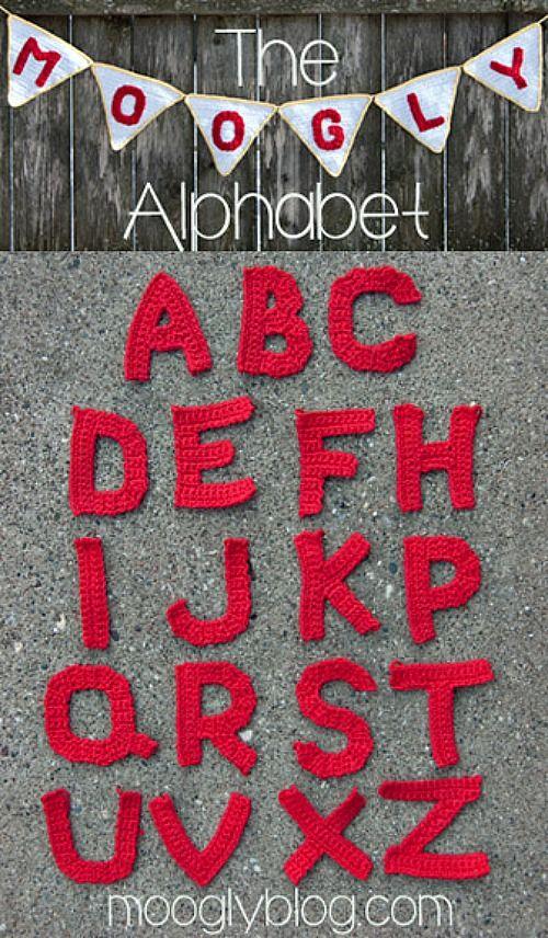 Crochet-A-Day: Crochet Alphabet Letters | Crochet alphabet, Moogly ...