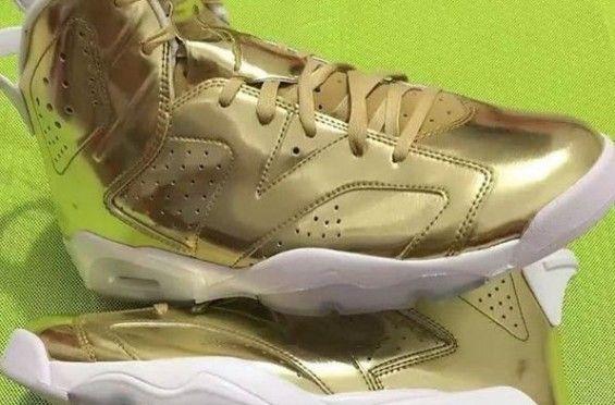 dc393df1a324e9 More Images Of The Air Jordan 6 Pinnacle Metallic Gold  http   SneakersCartel.