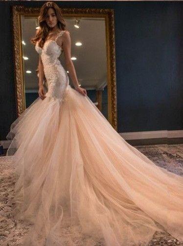 188€ Meerjungfrau Brautkleider mit Spitze | wedding | Pinterest ...