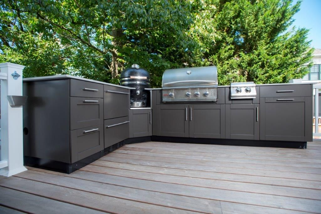 Danver Stainless Steel Kitchen And Screened Porch In Bethesda Md Outdoor Kitchen Cabinets Outdoor Kitchen Outdoor Kitchen Design