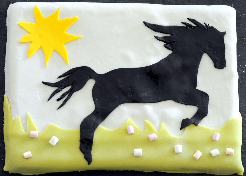 gateau anniversaire cheval facile