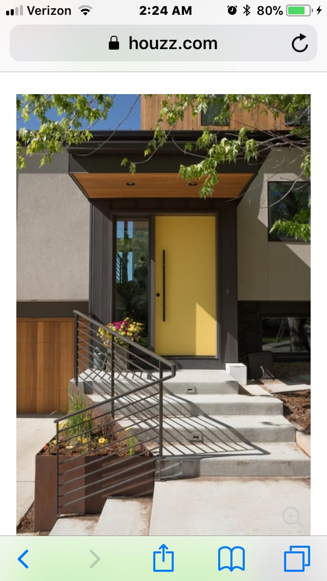 Pin by Happy on Exterior Yellow front doors, House