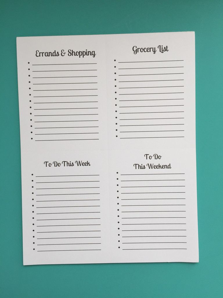 Large Tear Away Master Plan Notepad. 8 1/2 x11 Notepad perforated ...