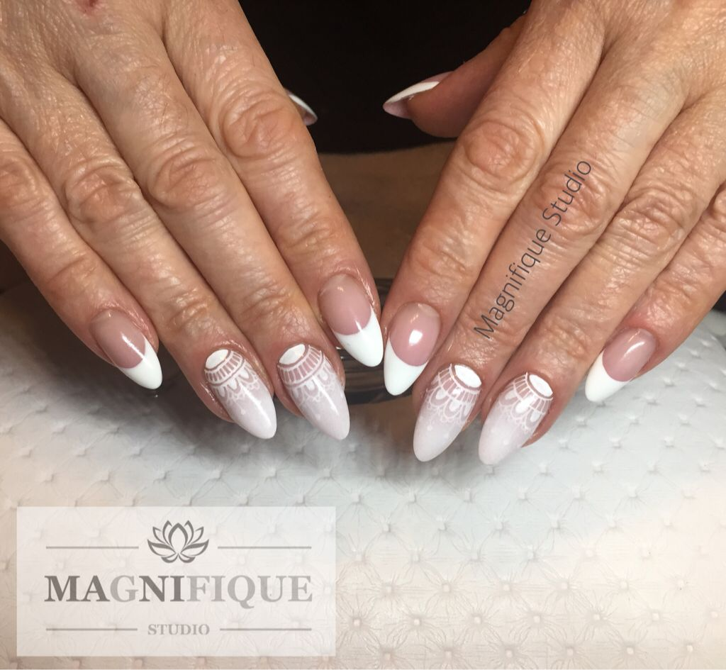 French Nägel Hochzeit Design Wedding nails | Nail Design | Pinterest