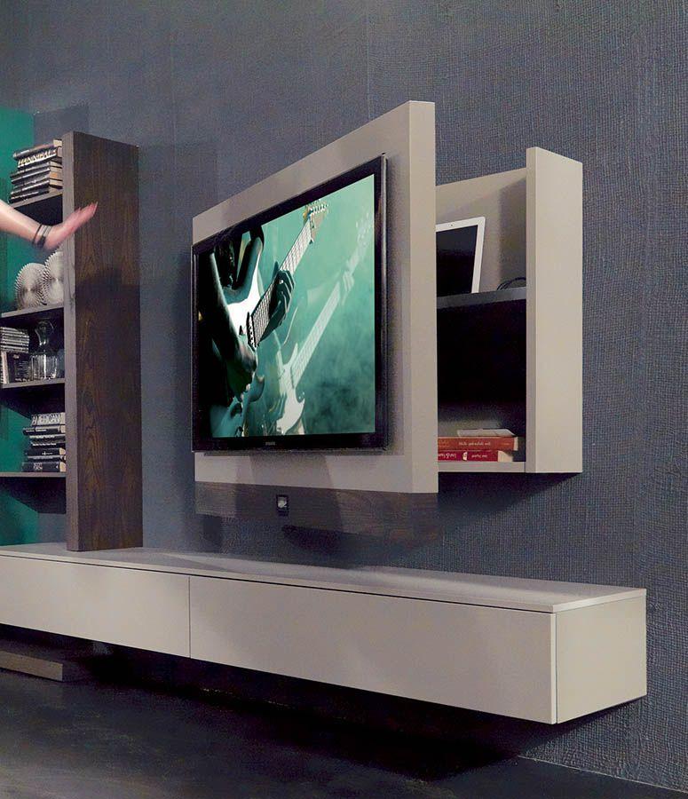 Parete attrezzata Side System con TV Rack Evo digital sound ...