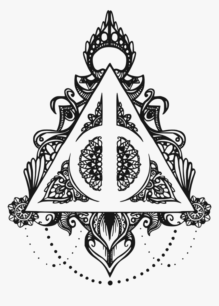Svgs For Geeks Cricut Ideas Geek Stuff Symbolic Tattoos Deathly Hallows Mandala Hd P Harry Potter Symbols Harry Potter Coloring Pages Harry Potter Tattoos
