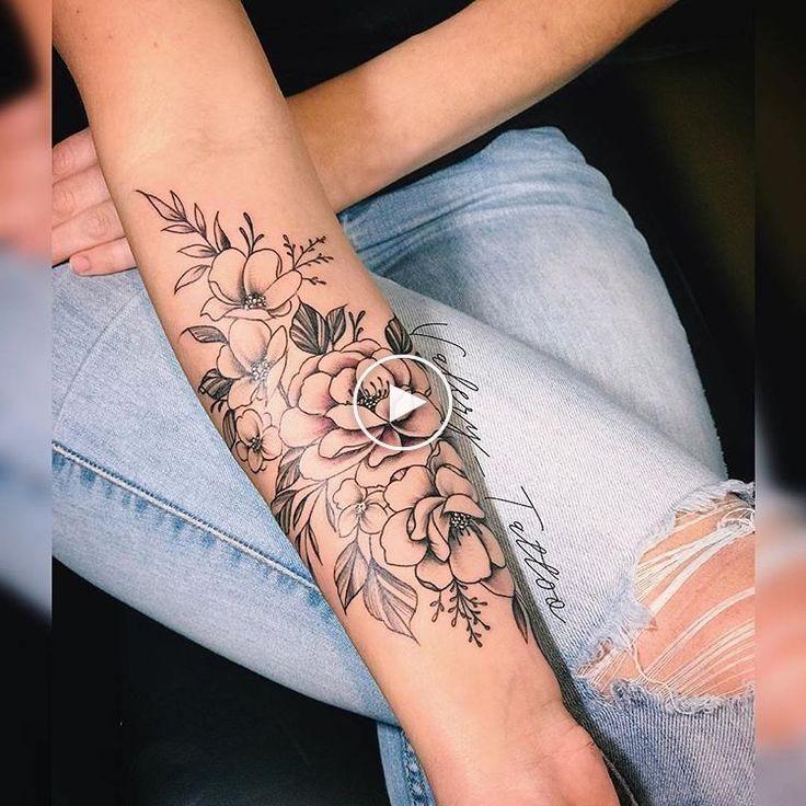 Kwiatowy Tatuaz Na Przedramieniu Forearm Tattoo Women Tattoos For Women Flowers Forearm Flower Tattoo