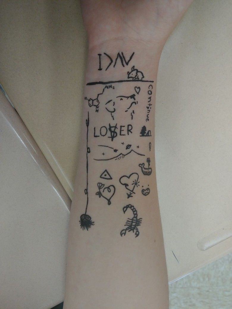 Whenever I Get Bored I Ll Ask My Friends If I Can Draw Tattoos On