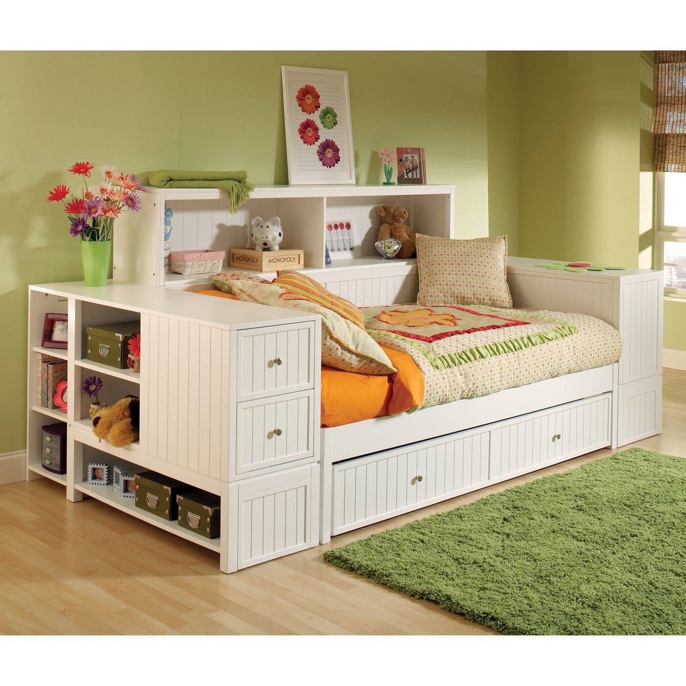pin girls bed kids madison complete bookcase legacy full bookshelf classic beds by