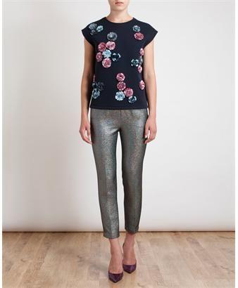 MSGM - Floral Embellished Sleeveless Sweatshirt