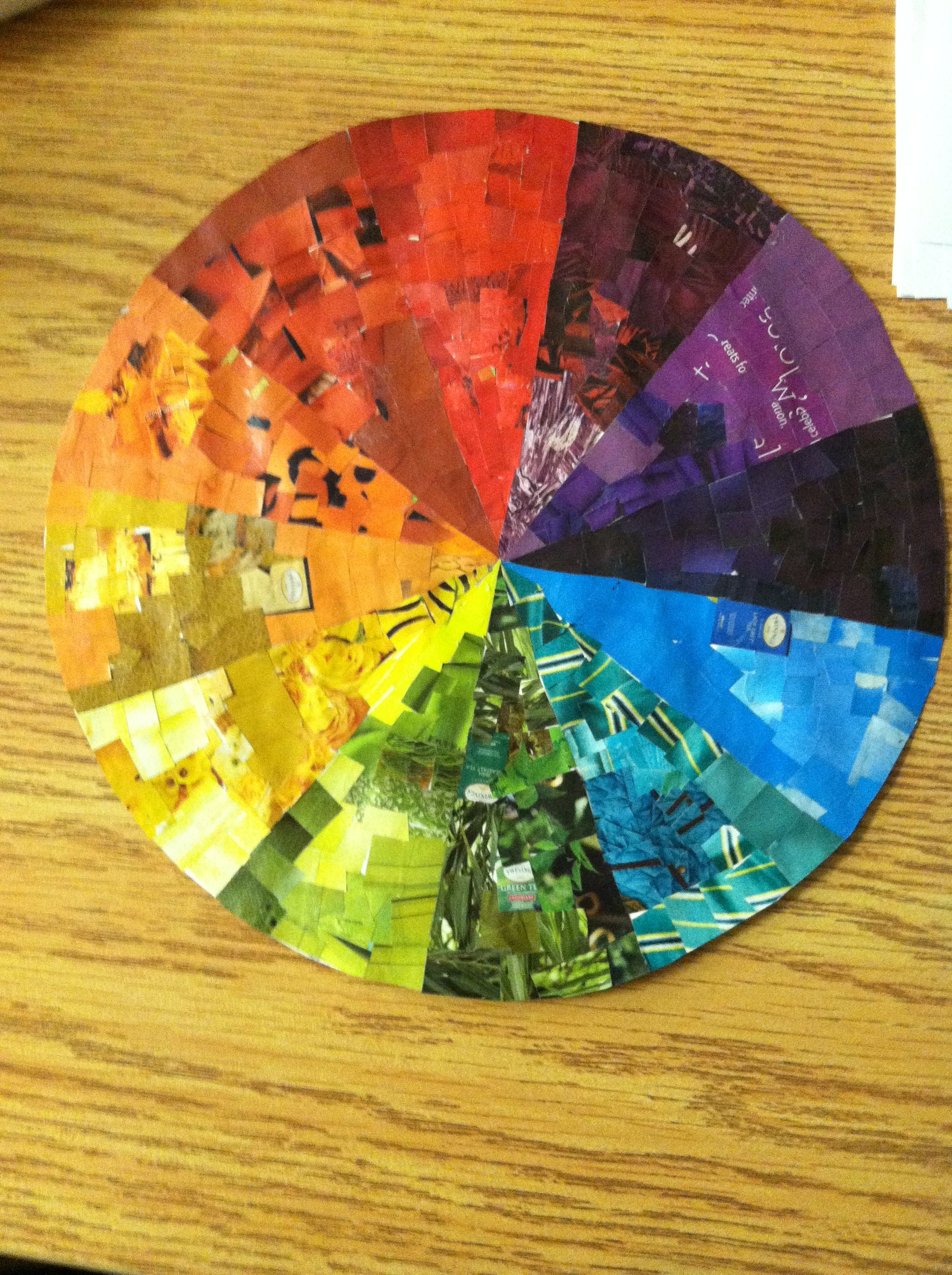 Color wheel art projects for kids - Teaching Art My Revamp Of The Color Wheel Collage It So That The Kids Also See All