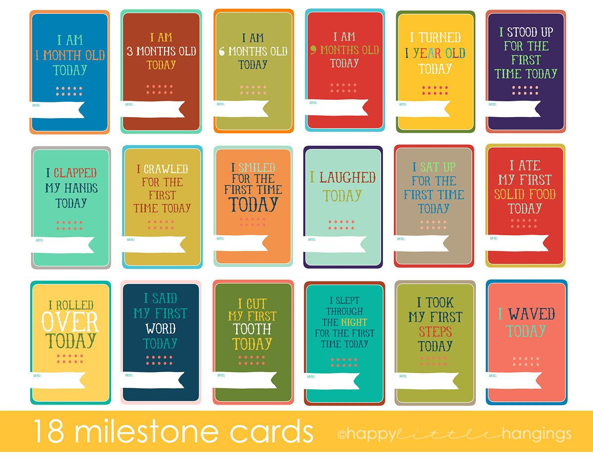 Scrapbook ideas baby milestones - Baby S First Year Milestone Cards These Would Be Great For A Scrapbook Layout