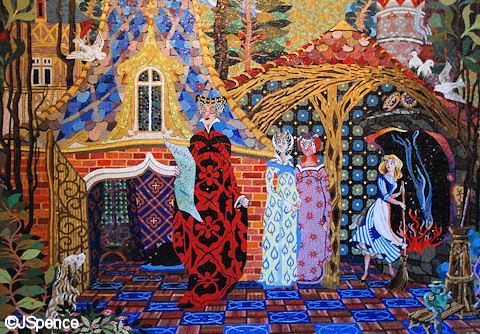 I love the Cinderella mosaics in the castle at Walt Disney World.
