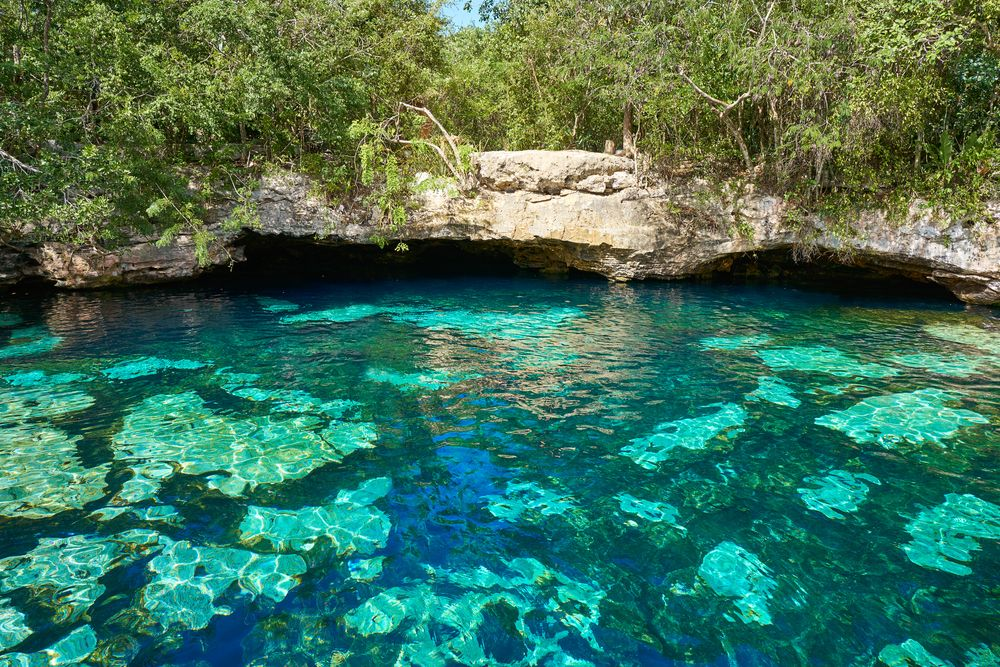 Blue pools Mexico