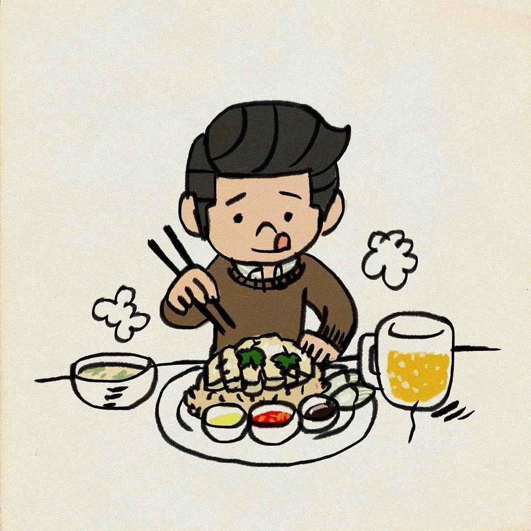 チキンライス 絵 instagram posts illustration vault boy