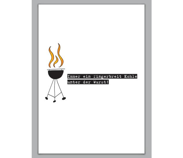einladungskarte zum grillen - http://www.1agrusskarten.de/shop, Einladung