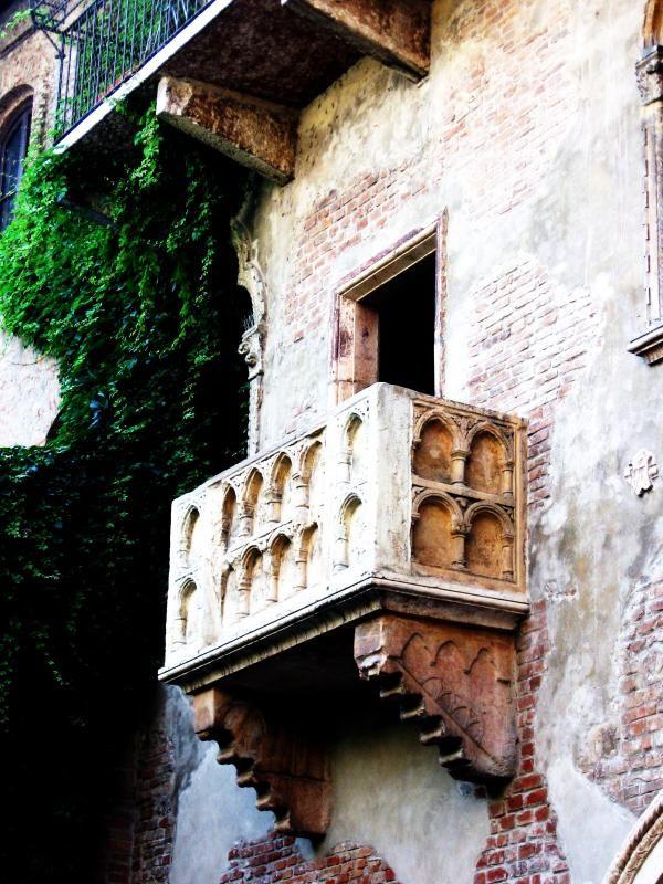 Juliet's balcony, as in Romeo & Juliet...Verona, Italy