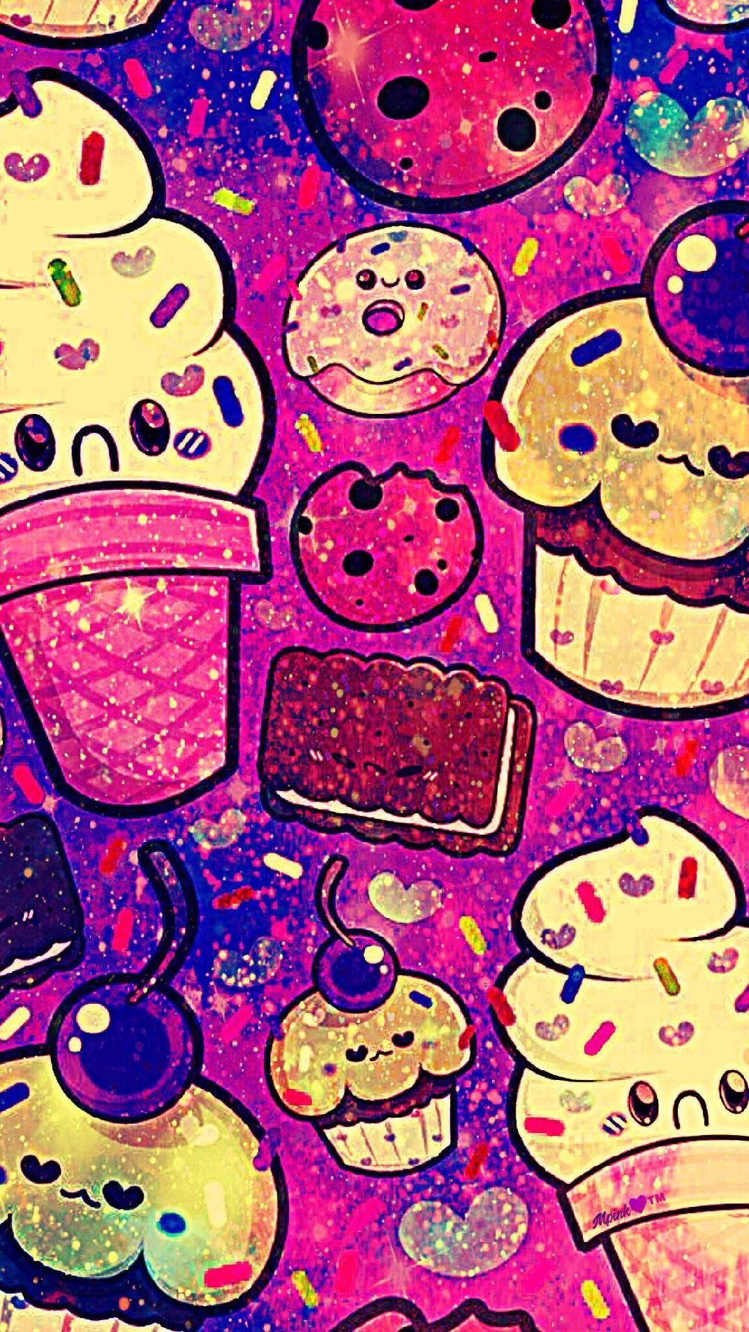 Kawaii Dessert Galaxy Wallpaper Androidwallpaper Iphonewallpaper Wallpaper Galaxy Sparkle Glitter Lockscreen Galaxy Wallpaper Iphone Wallpaper Wallpaper