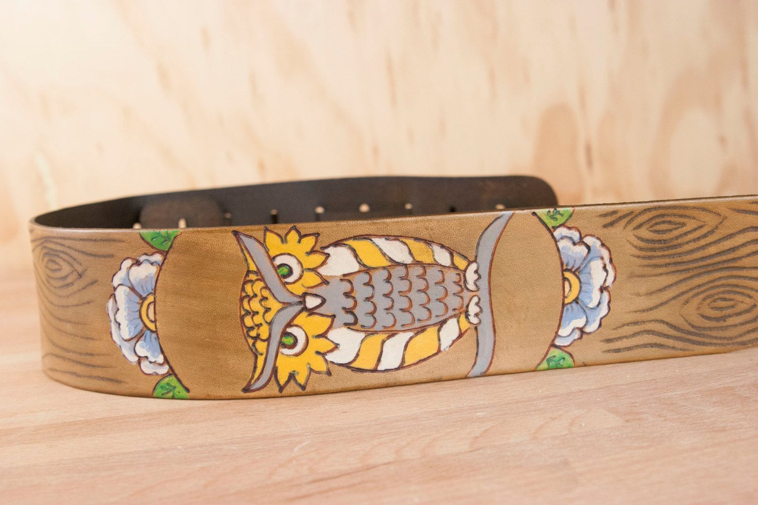 Leather Ukulele Strap Handmade leather in the Emerson
