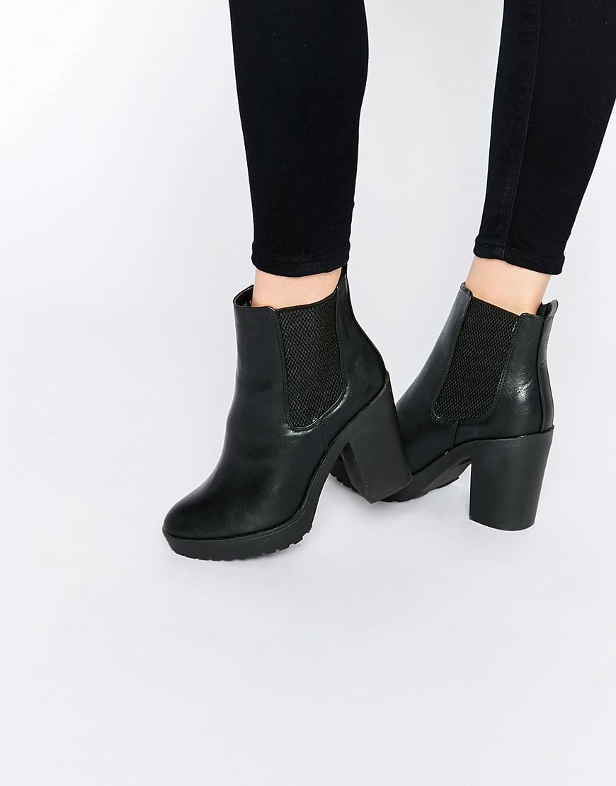 6e591fffb2c0 New Look Heeled Chelsea Ankle Boots | Shoes <3 | Chelsea ankle boots ...
