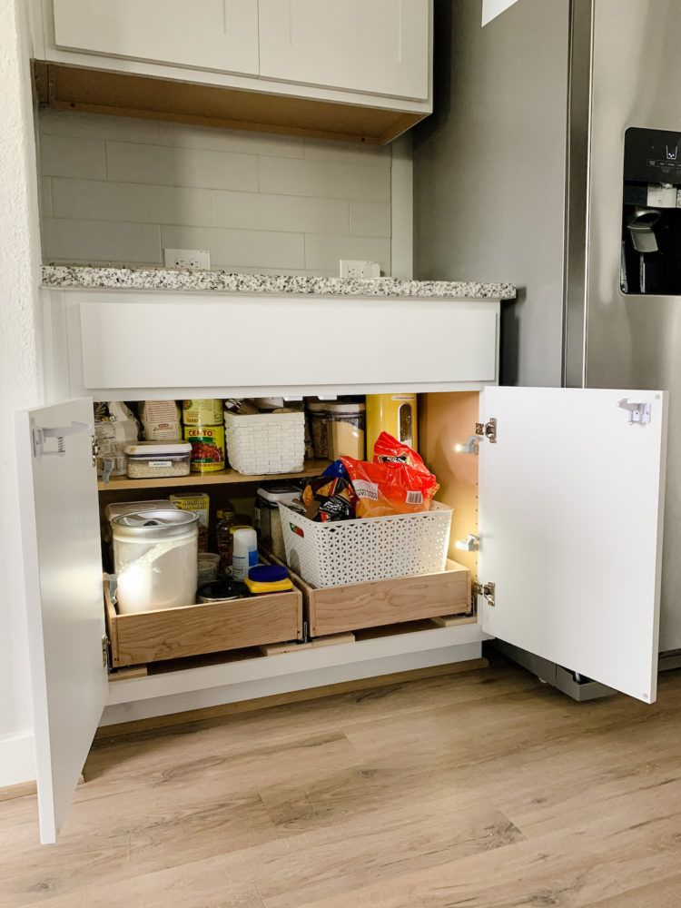 DIY Pull Out Drawers in the Kitchen Cabinets | Installing ...